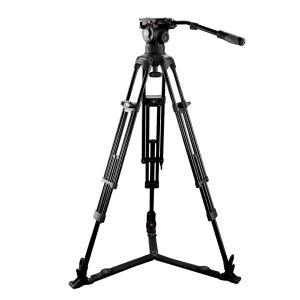 EI7083A2 Kit treppiede video e testa fluida per telecamere e fotocamere con portata fino a 12 kg